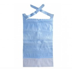 babero desechable azul resistente