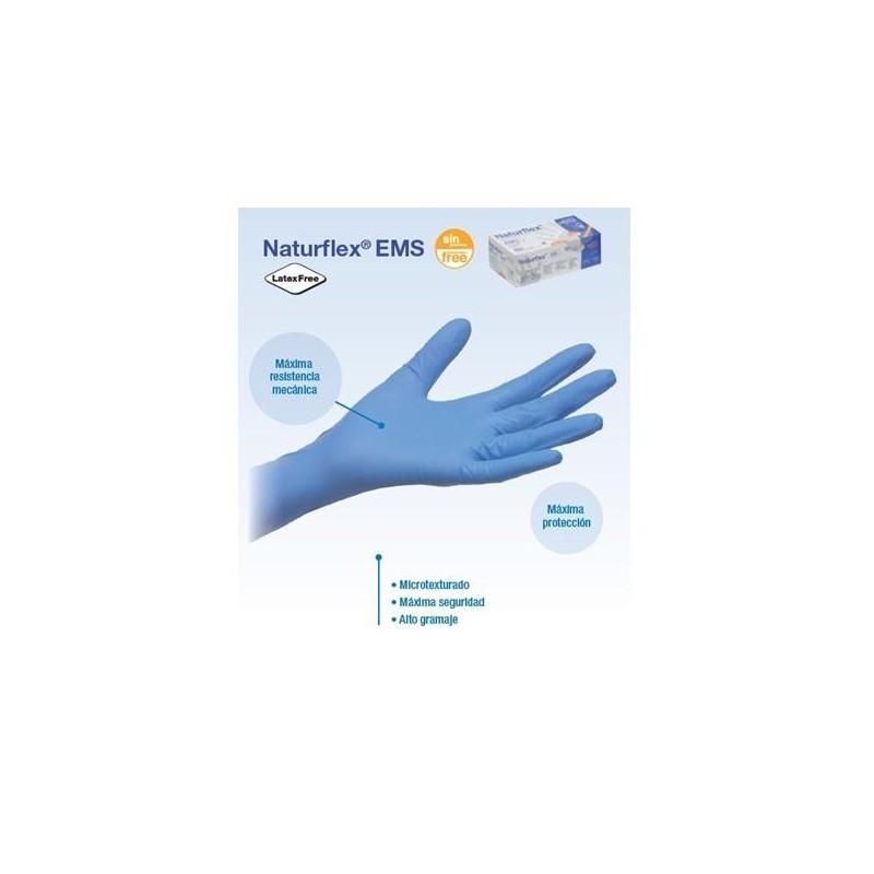 guantes nitrilo S/P NATURFLEX EMS