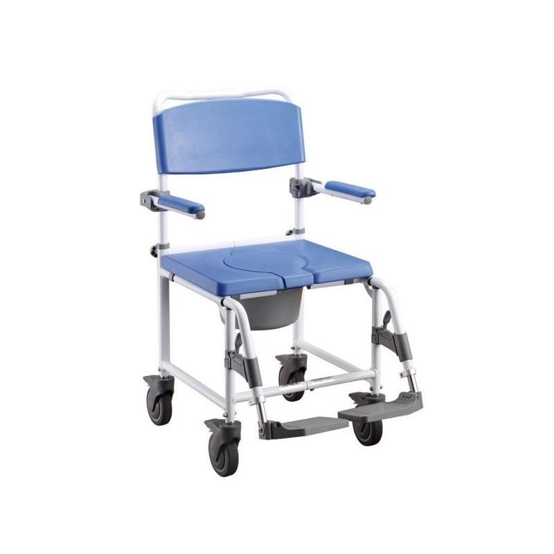 silla de ruedas para ducha y WC  de aluminio
