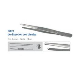 Pinza de disección con dientes 14cm de un solo uso PEHA-INSTRUMENT caja 25 unidades
