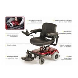 características silla de ruedas electrica compacta R120