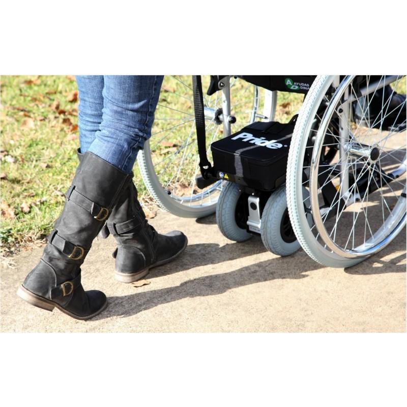 motor PoweGlide para facilitar el empuje de silla de ruedas manual