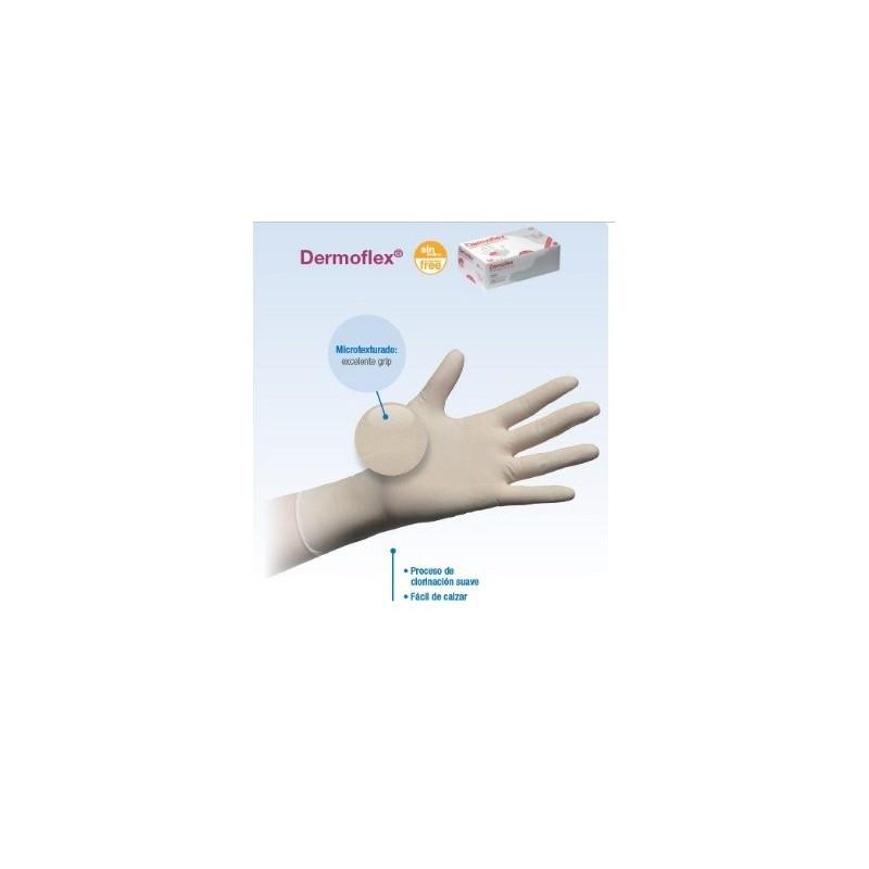 guantes de latex sin polvo DERMOFLEX