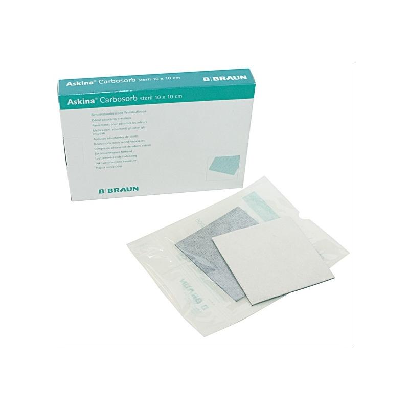 Askina Carbosorb Aposito de carbón activado 10x10 cm caja 10 unidades