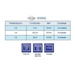 Características Aplicador estéril de CHG 2% IPA 70% Nex Clorex 2% COLOR