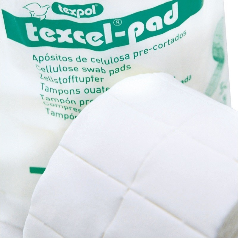 Apósitos de celulosa precortada 4x5 cm Texcel-Pad