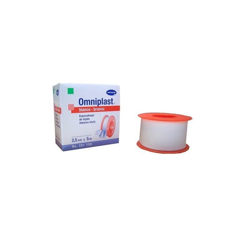 Omniplast esparadrapo tela blanco hipoalérgico 2