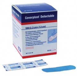 Tiritas azules Detectables Coverplast 22mm x 72mm