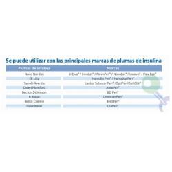 Principales marcas de pluma de insulina compatibles