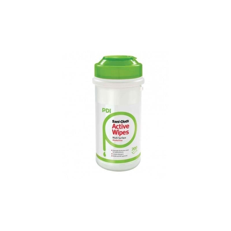 Toallitas desinfectantes de superficie sin alcohol Sani-Cloth Active Wipes Bote 200 toallitas