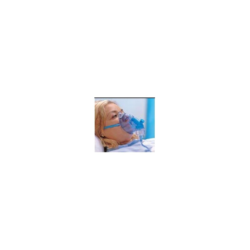 Mascarilla de oxigeno con nebulizador adulto