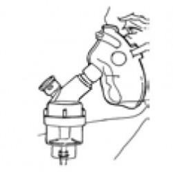 Mascarilla oxigeno con nebulizador adulto