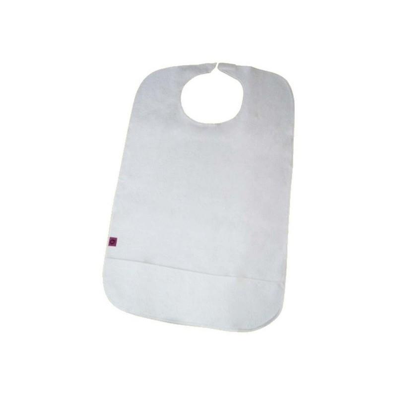 Babero rizo reutilizable 45x75cm con cierre de Velcro y con bolsillo
