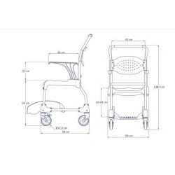 dimensiones silla de baño y WC Moem