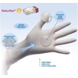 guantes de latex sin polvo Naturflex