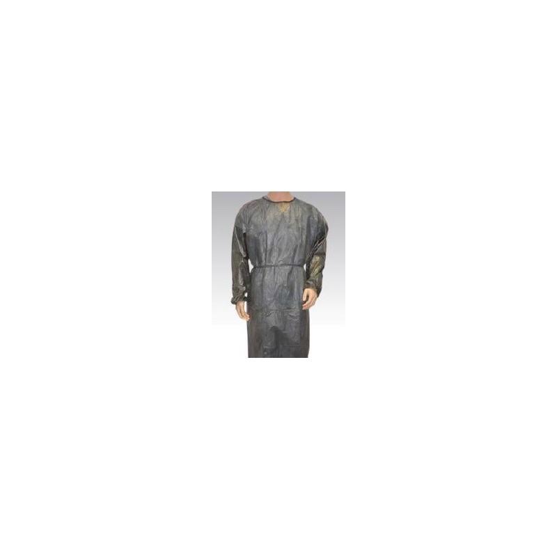 Bata desechable manga larga con puño elástico tejido sin tejer 30gr Verde Oscuro