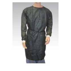 Bata desechable manga larga con puño Algodón tejido sin tejer 50gr Verde oscuro