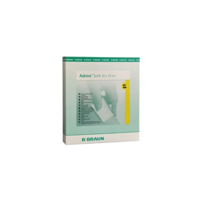 Apósitos de alginato cálcico e hidrocoloide ASKINA SORB 10cm x 10cm Caja 15 unidades