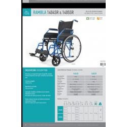 Ficha técnicas silla de ruedas Rambla