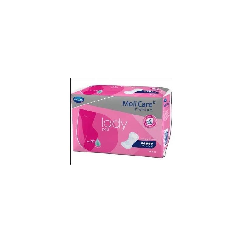 Compresas Molicare Premium Lady Pad 5 gotas Paquete 14 unidades