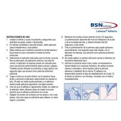 Instrucciones de uso de Leukosan Adhesive