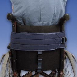 Cinturón abdominal para silla con soporte perineal por detrás