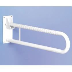 Doble barra abatible para baño 70 cm