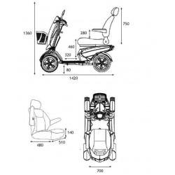 dimensiones Scooter VITA