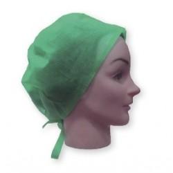 Gorro cirujano con cintas color verde