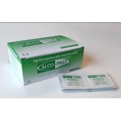 Gasa impregnada en alcohol isopropilico al 70% ALCO-PREP Caja 200 unidades