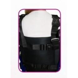 chaleco abdominal con cremallera Ubio parte de atrás