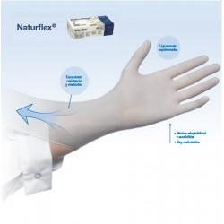 caja de guantes de latex con polvo naturflex