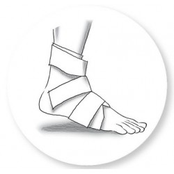 Iceband foot and ankle cooling wrap