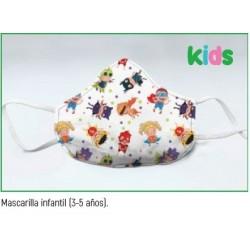 Mascarilla reutilizable higienica infantil 3-5 años