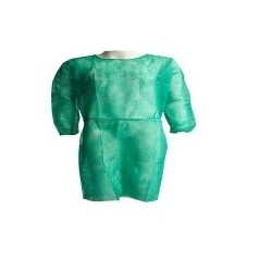 Bata desechable manga larga con puño elástico tejido sin tejer 25 gramos
