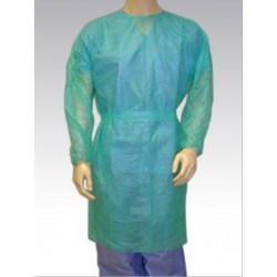 Bata Estéril desechable TST manga larga con puño elástico tejido sin tejer 22gr Color verde Unidad