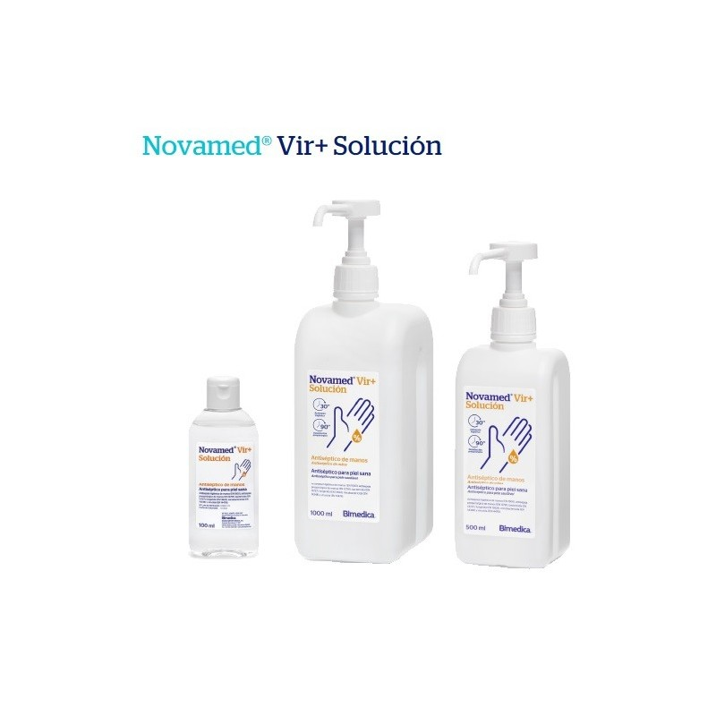 Novamed VIR + Solucion hidroalcoholica Antiséptico para piel sana