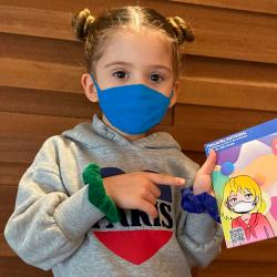 Mascarilla de protección infantil 100 usos MaskPlus azul de 3 a 5 años