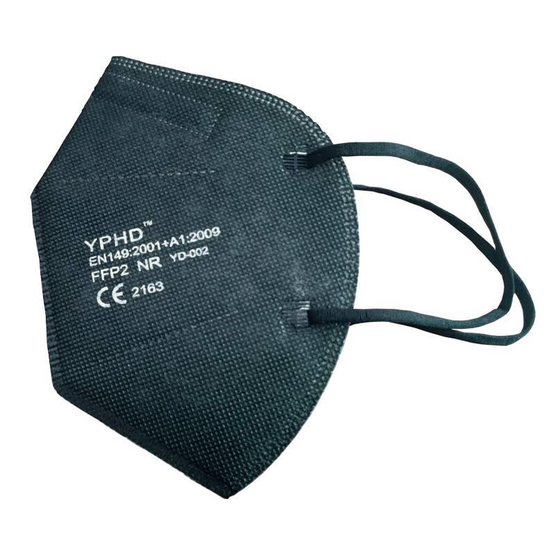 Mascarilla FFP2 Negra sujeción orejas - Paquete 5 unidades