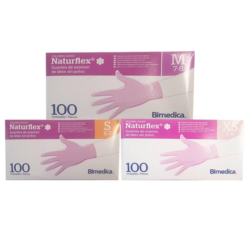 Guantes de látex sin polvo Naturflex