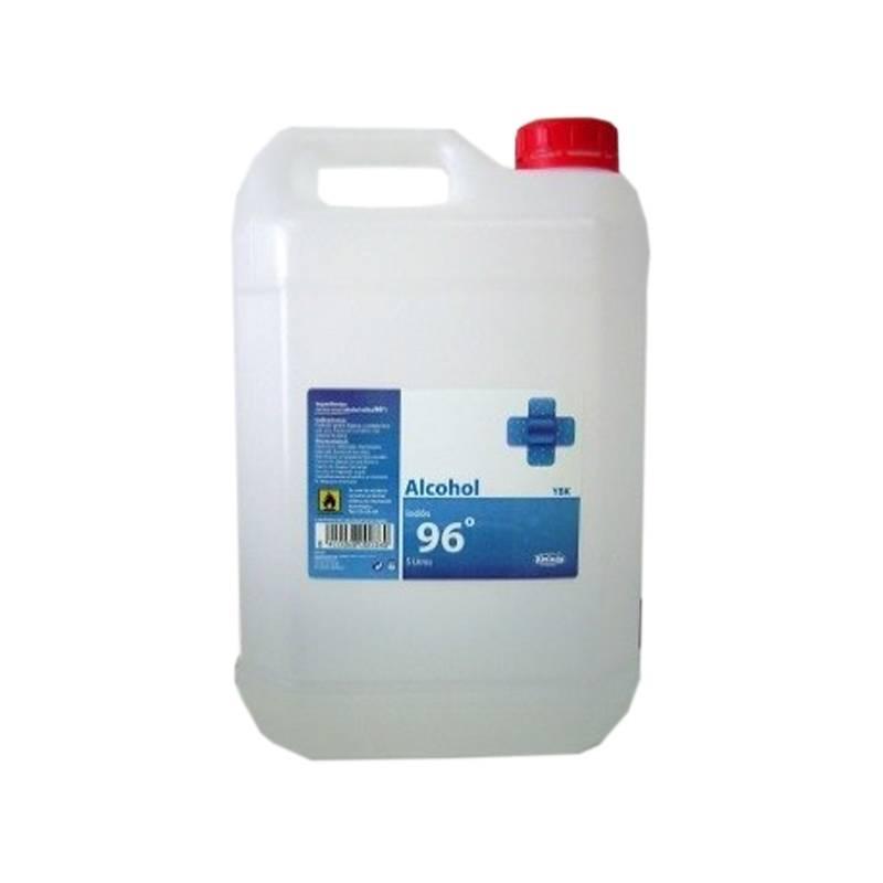 alcohol YBF 96º garrafa de 5 litros
