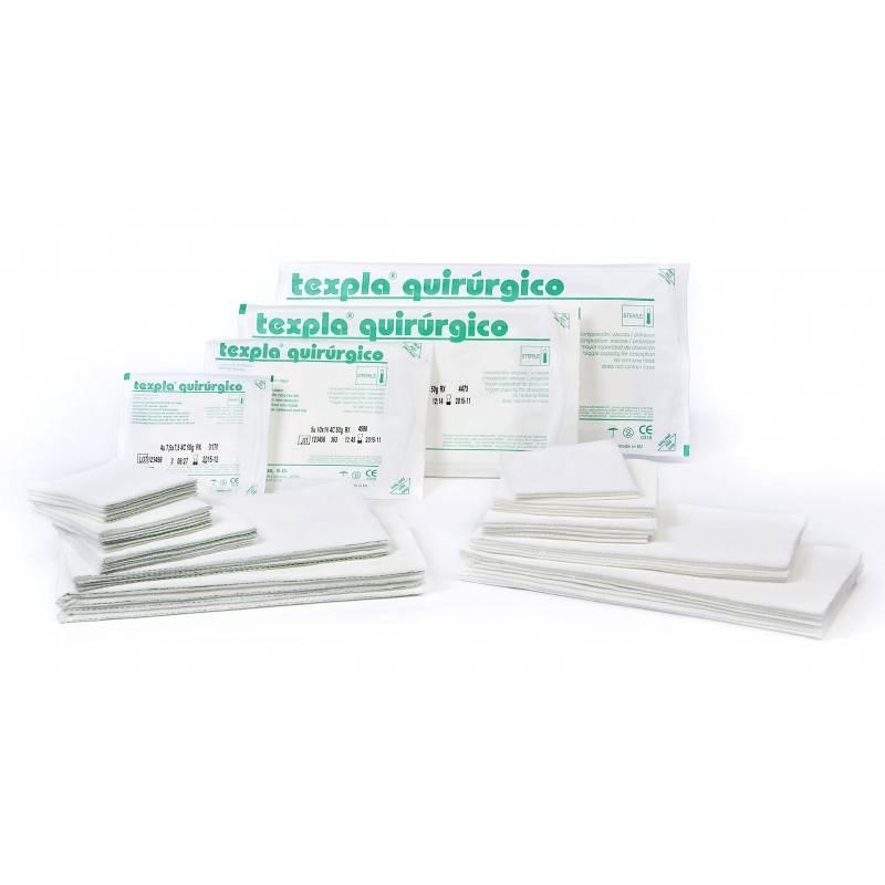 Compresas estériles TNT 2 Apósitos 40x40 (10x20) 30g Visc/pol 8 capas Texpla