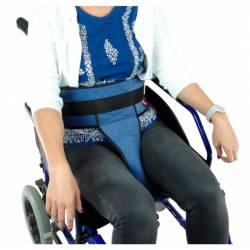 Cinturón acolchado abdominal para silla con soporte perineal