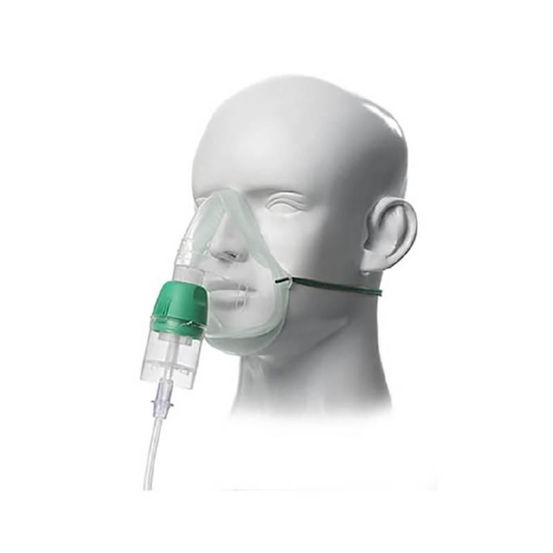 Mascarilla adulto con nebulizador Eco-Mask Cirrus2 y linea de oxigeno 2,1m