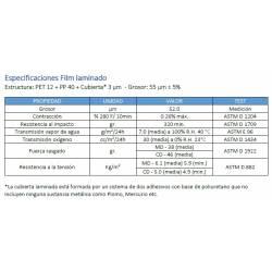 especificaciones papel médico bolsa autosellable Medipack