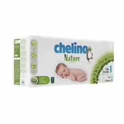 Pañal bebe Chelino Nature Talla 1 1-3Kg 28 unidades