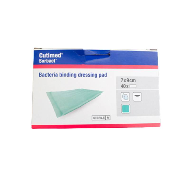 Compresa absorbente de captación bacteriana Cutimed Sorbact 7x9cm (40 apósitos)
