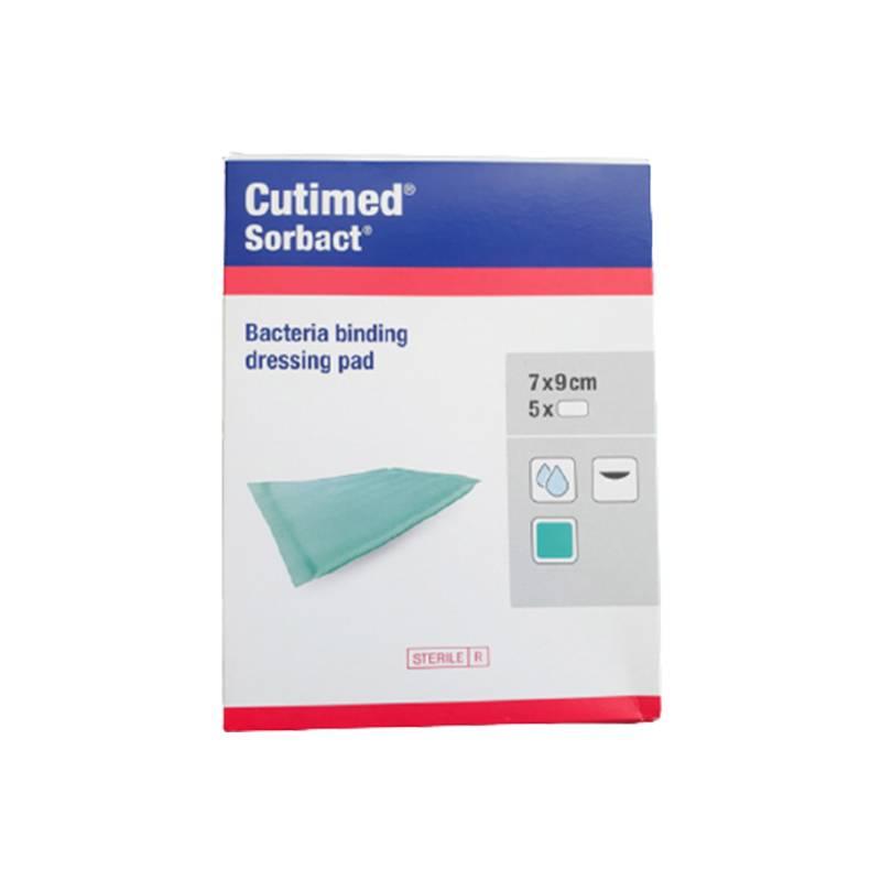 Compresa absorbente de captación bacteriana Cutimed Sorbact 7x9cm (5 apósitos)