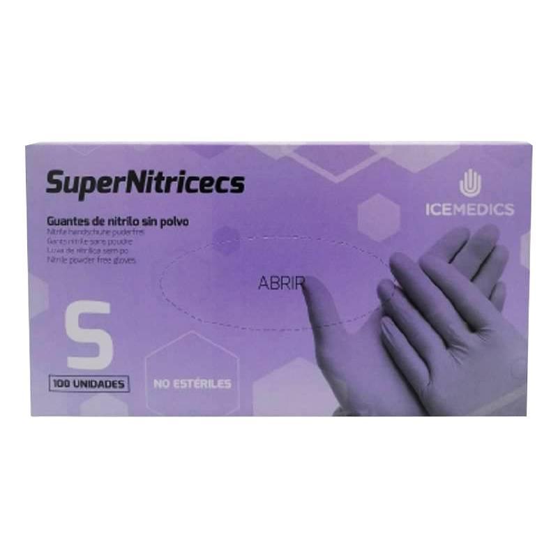 Guantes no estériles Nitrilo sin polvo SuperNitricecs C/100 uds