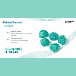 Torundas redondas de captación bacteriana Cutimed Sorbact ±3cm Ø